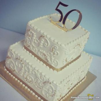 50 years birthday cake