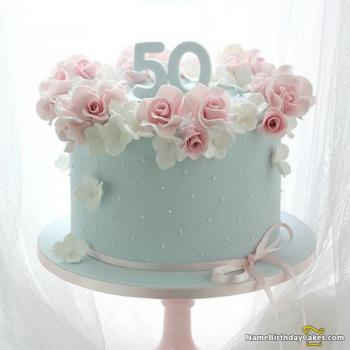 50th birthday cake ideas for her