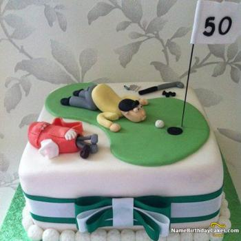 Sensational 50Th Birthday Cakes For Men And Women Ideas Designs Personalised Birthday Cards Beptaeletsinfo
