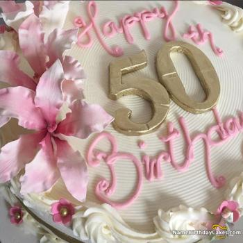 50th birthday cakes for her