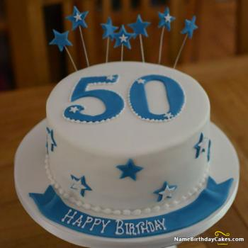 50th birthday cakes for him