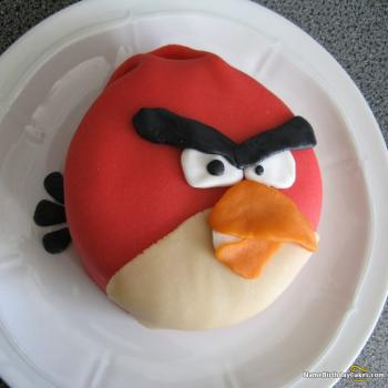 angry bird birthday theme cake