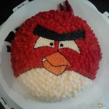 angry birds happy birthday cake