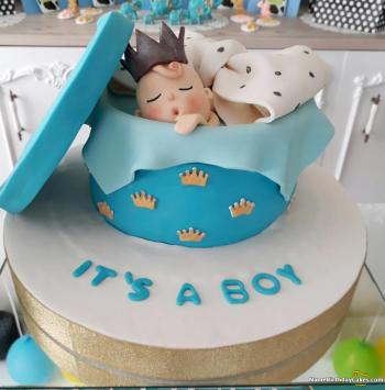 baby boy baby shower cakes