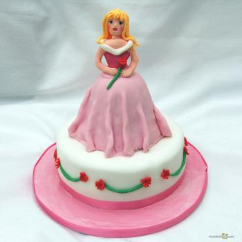 barbie princess cake design
