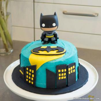 batman birthday cake cartoon