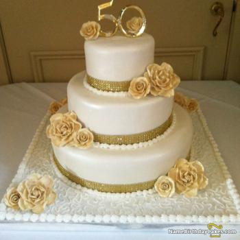 beautiful 50th birthday cake