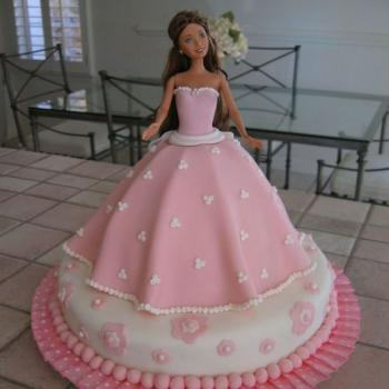 beautiful barbie birthday cake