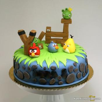 beautiful bird cake