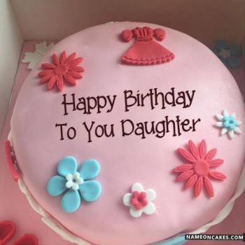 beautiful cake for daughter birthday