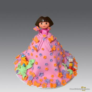 beautiful dora cake for girl