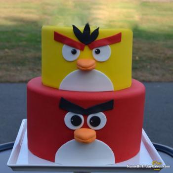 bird birthday cake for son