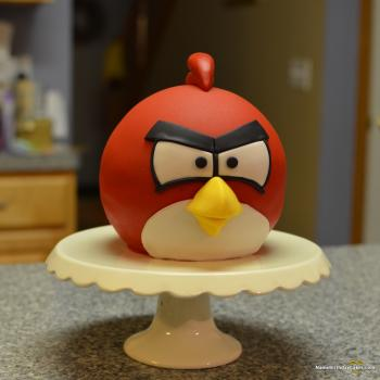 bird happy birthday cake