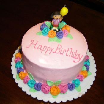 birthday cake dora