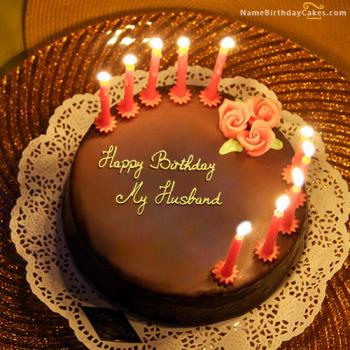 Outstanding Happy Birthday Cake For Husband Romantic Birthday Wishes Personalised Birthday Cards Veneteletsinfo
