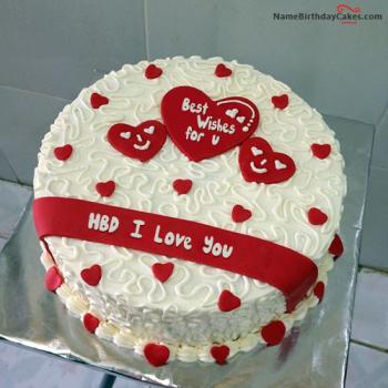 Excellent Romantic Birthday Cake For Lover Express Your Love Funny Birthday Cards Online Inifodamsfinfo