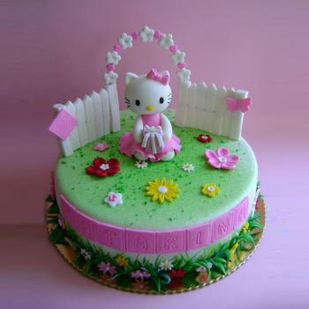 Birthday Hello Kitty Cake Famous Character For Kids