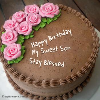 Happy Birthday Cake For Son Stunning Cakes Ideas
