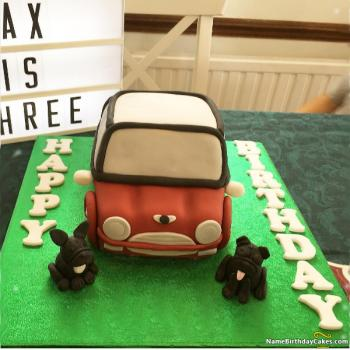 car birthday cake for boys