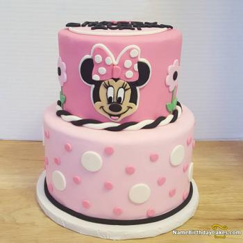 cartoon bday cake for girl