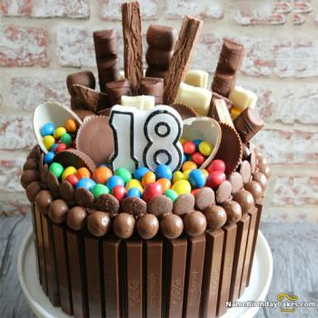 chocolate 18th birthday cake