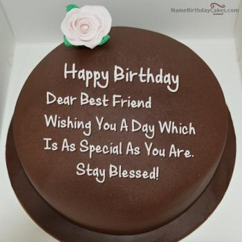 chocolate birthday cake wishes