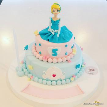 Groovy Beautiful Cinderella Cake Princess Birthday Ideas Funny Birthday Cards Online Overcheapnameinfo