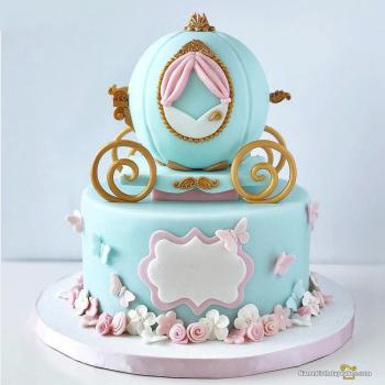 cinderella carriage birthday cake