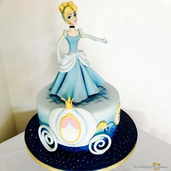 cinderella childrens birthday cake