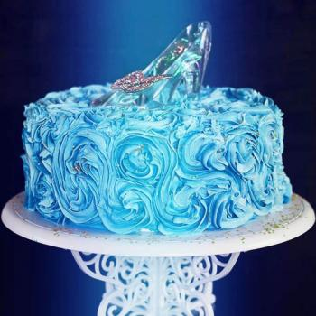 cinderella slipper cake design