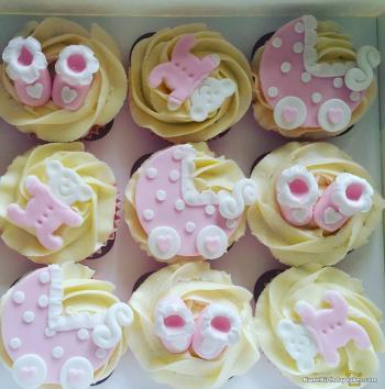 cupcakes for baby shower girl