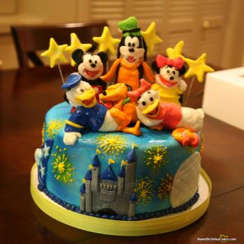 disney themed birthday cakes