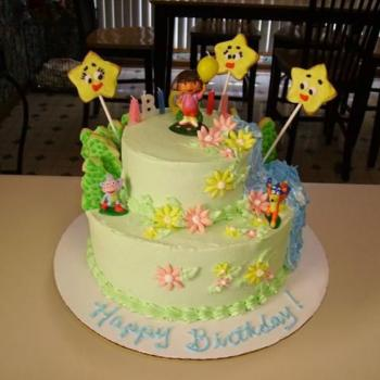 dora birthday cake images