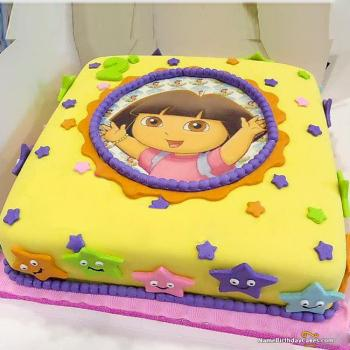 Enjoyable Beautiful Dora Cake Amazing Ideas Of Dora Birthday Cakes Funny Birthday Cards Online Alyptdamsfinfo