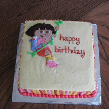 dora happy birthday cake