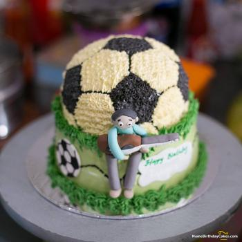 football birthday cake photos