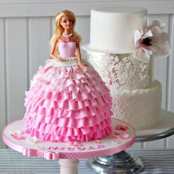 free barbie cake