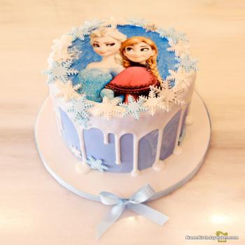 frozen cake for sister