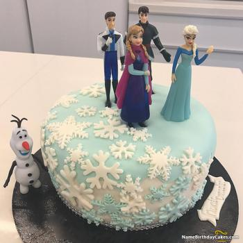 frozen happy birthday cake