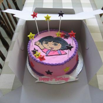 happy birthday cake dora