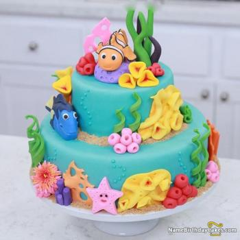happy birthday cartoon cake
