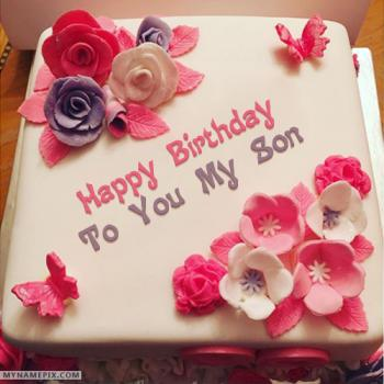 Miraculous Happy Birthday Cake For Son Stunning Cakes Ideas Funny Birthday Cards Online Bapapcheapnameinfo