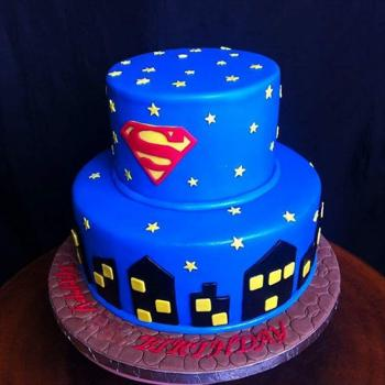 happy birthday superman cake