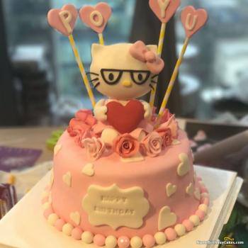 hello kitty cake for birthday