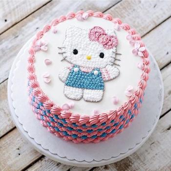 Superb Birthday Hello Kitty Cake Famous Character For Kids Personalised Birthday Cards Cominlily Jamesorg