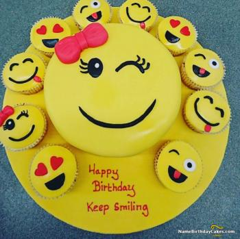 keep smiling cake for boys