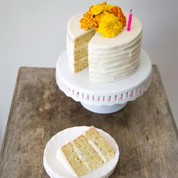 Lime and Coconut Birthday Cakes