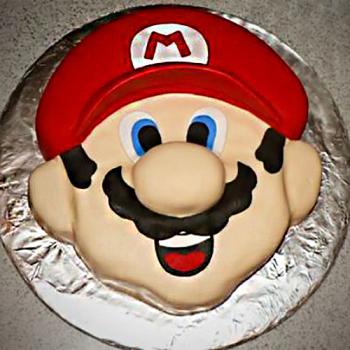 mario face cake