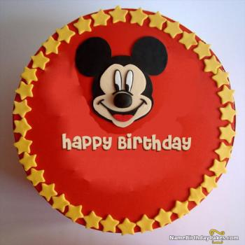 micky mouse birthday cake cartoon