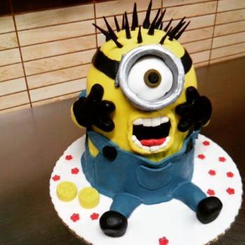 minion 3d cake